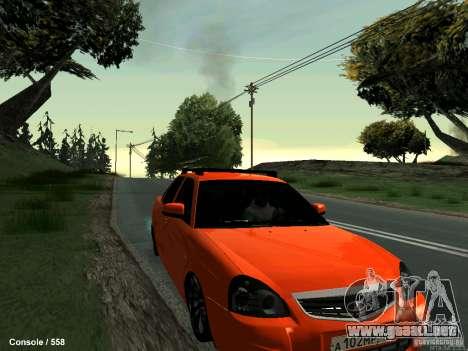 LADA 2170 102-RUS para GTA San Andreas vista hacia atrás