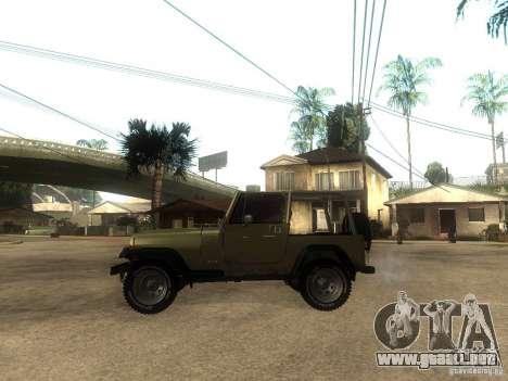 Jeep Wrangler 1986 4.0 Fury v.3.0 para GTA San Andreas left