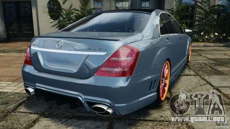 Mercedes-Benz S W221 Wald Black Bison Edition para GTA 4 Vista posterior izquierda
