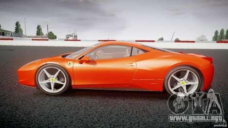 Ferrari 458 Italia 2010 para GTA 4 vista interior