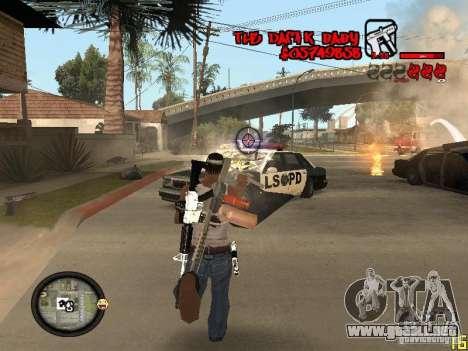 Hud by Dam1k para GTA San Andreas quinta pantalla