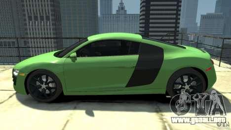 Audi R8 5.2 FSI quattro v1 para GTA 4 left