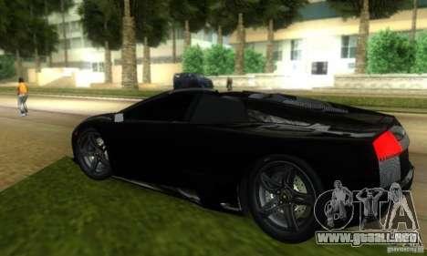 Lamborghini Murcielago LP640 Roadster para GTA Vice City visión correcta