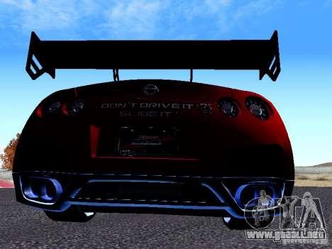 Nissan Skyline R35 Drift Tune para la visión correcta GTA San Andreas