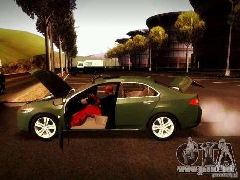 Acura TSX para GTA San Andreas vista hacia atrás