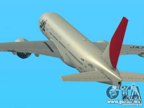 Boeing 777-200 Japan Airlines para GTA San Andreas left