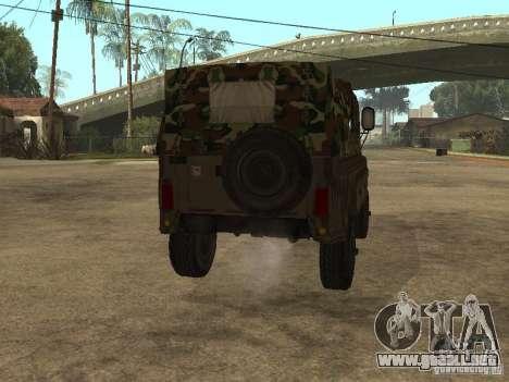 UAZ 469 para la visión correcta GTA San Andreas