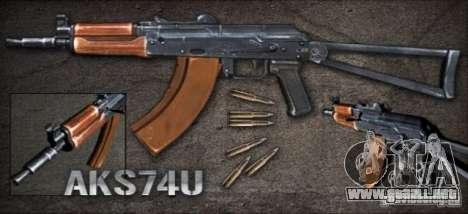AKS74U [point Blank] para GTA San Andreas