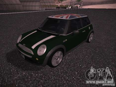 Mini Cooper S para vista inferior GTA San Andreas
