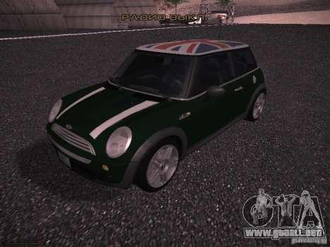Mini Cooper S para vista inferior GTA San Andreas
