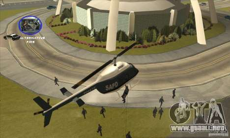 Police Maverick 2 para GTA San Andreas vista hacia atrás