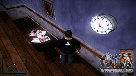 Reloj de pared del trabajo para GTA San Andreas tercera pantalla
