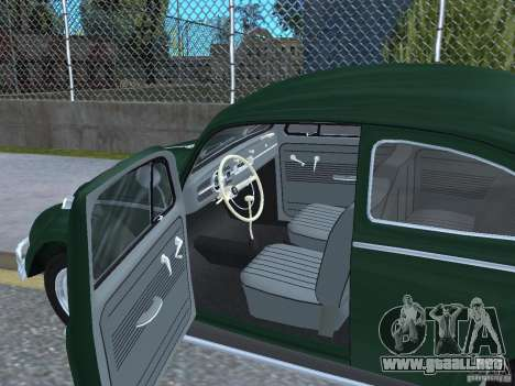 Volkswagen Beetle 1963 para GTA San Andreas vista hacia atrás