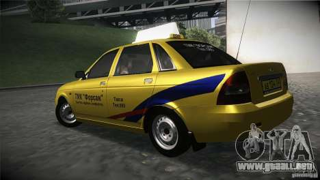 LADA Priora 2170 Taxi TMK Afterburner para GTA San Andreas left