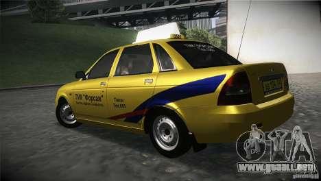 LADA Priora 2170 Taxi TMK Afterburner para GTA San Andreas left