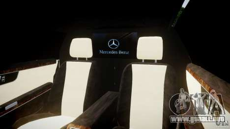 Mercedes-Benz S600 Guard Pullman 2008 para GTA 4 vista interior