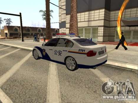 BMW 3 Series China Police para GTA San Andreas left