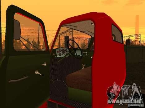 GAZ 53 camiones para GTA San Andreas vista hacia atrás