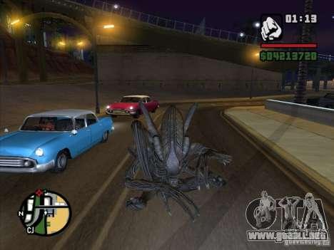 Xenomorph alienígena para GTA San Andreas segunda pantalla