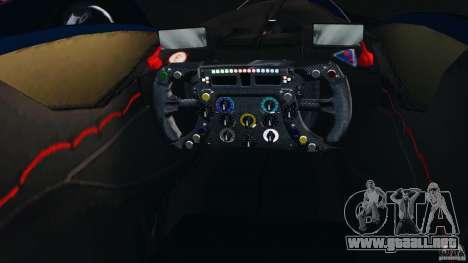 Red Bull X2010 para GTA 4 vista hacia atrás