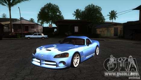 Dodge Viper SRT10 Stock para GTA San Andreas