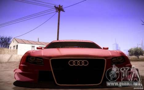 Audi A4 DTM para vista lateral GTA San Andreas