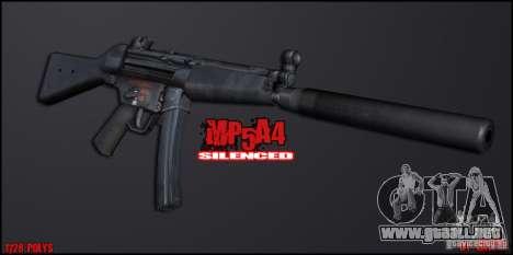 MP5A4 Silenced para GTA San Andreas segunda pantalla