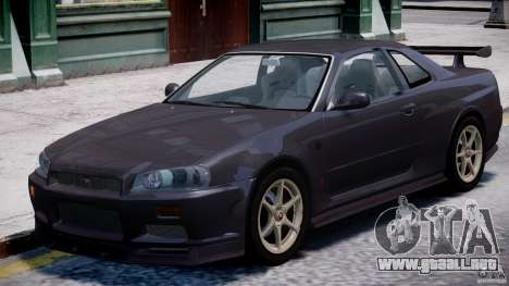 Nissan Skyline GT-R 34 V-Spec para GTA 4 left