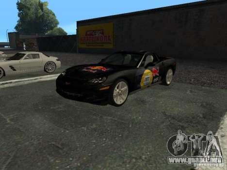 Chevrolet Corvette C6 para la vista superior GTA San Andreas
