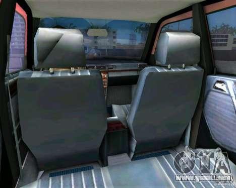 Mercedes-Benz E190 para GTA Vice City vista posterior