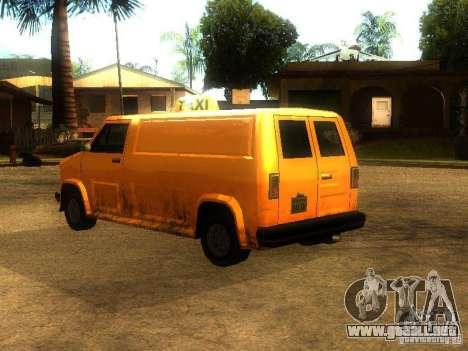 Taxi Burrito para GTA San Andreas vista posterior izquierda