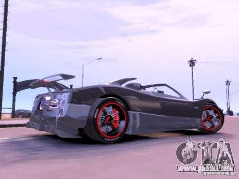Pagani Zonda Cinque Roadster v 2.0 para GTA 4 left