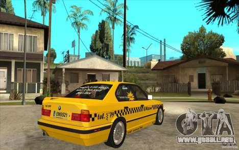 BMW 525tds E34 Taxi para la visión correcta GTA San Andreas