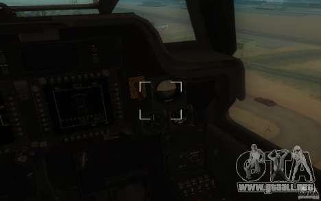 AH-64D Longbow Apache para GTA San Andreas vista posterior izquierda