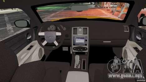 Chrysler 300c 3.5L TAXI FINAL para GTA 4 visión correcta