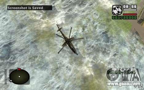 Mi-24 para la vista superior GTA San Andreas