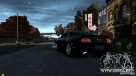 Ford Shelby Mustang GT500 2011 v2.0 para GTA 4 Vista posterior izquierda