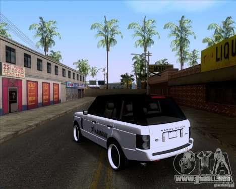 Range Rover Hamann Edition para GTA San Andreas vista posterior izquierda