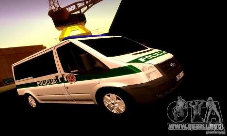 Ford Transit Policija para GTA San Andreas left