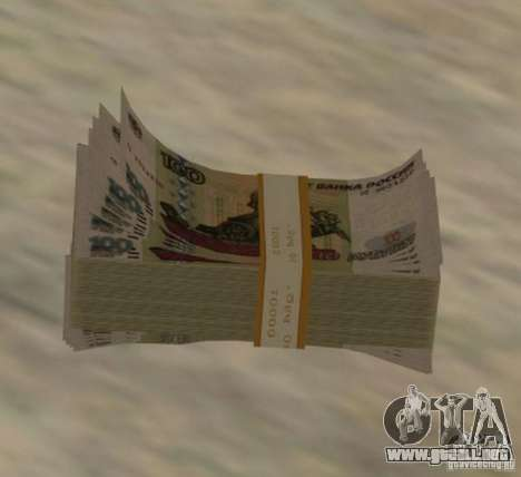 Russian-money para GTA San Andreas segunda pantalla