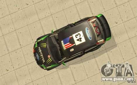 Ford Focus RS WRC 08 para la vista superior GTA San Andreas