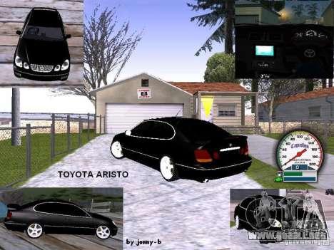 Año 2001 TOYOTA ARISTO para vista lateral GTA San Andreas