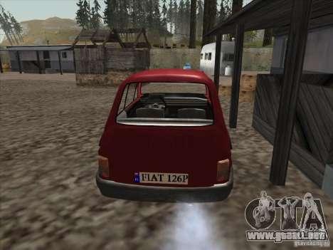 Fiat 126p Elegant para GTA San Andreas vista posterior izquierda