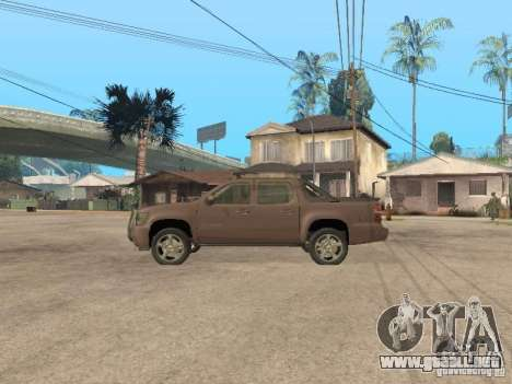 Chevrolet Avalanche para GTA San Andreas left