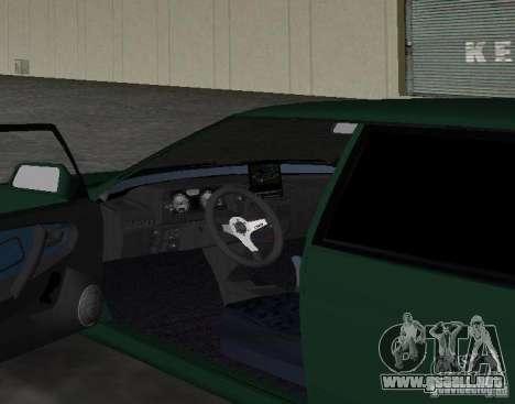 VAZ 2109 Tuning v2.0 para GTA Vice City vista posterior