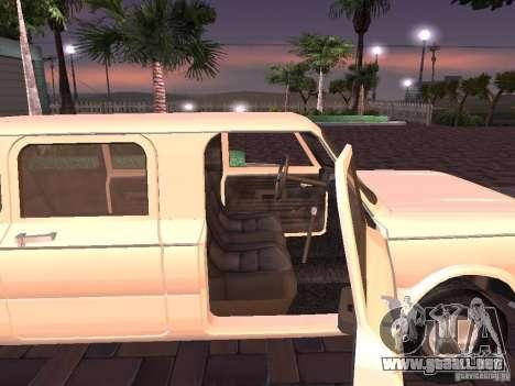ZAZ 968 m Limousine para GTA San Andreas vista posterior izquierda