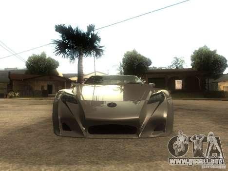 Lexus LFA Custom para la visión correcta GTA San Andreas