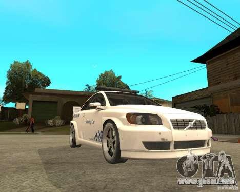 VOLVO C30 SAFETY CAR STCC v2.0 para la visión correcta GTA San Andreas