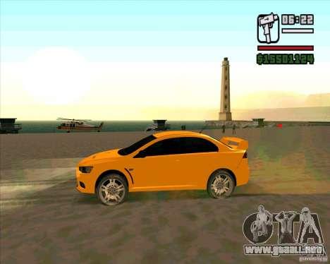 Mitsubishi Lancer Evolution para GTA San Andreas