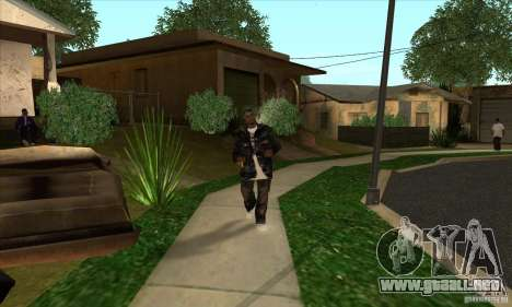 filas de piel 1 Grove para GTA San Andreas